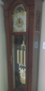 Since my husband's death, it's my job to wind his grandfather clock...a job I seem good at forgetting.